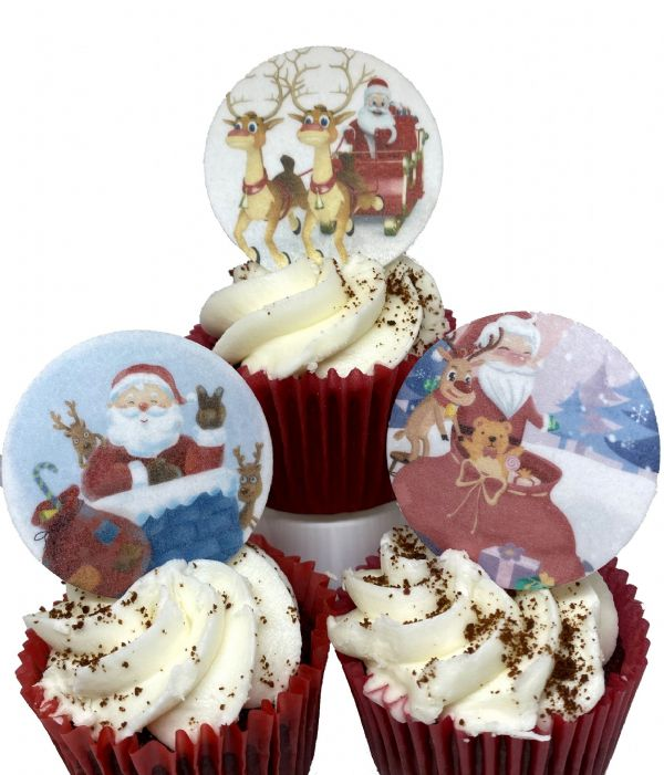 Edible Cake Topper - Father Christmas, Santa